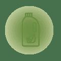 La lavanderia utilizza detersivi certificati Ecolabel.<br /> Le lavatrici utilizzano il 50% di acqua ed energia