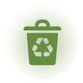 7 containers for Recycling: Humid, Paper,<br /> Plastic, Glass, Oil, Batteries, Medicines
