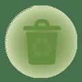 7 contenitori per la raccolta differenziata:<br /> umido,carta, plastica, vetro, batterie e medicine