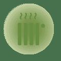 I termosifoni hanno valvole indipendenti<br /> per ottimizzare i consumi