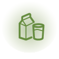 Forniamo latte biologico di produzione locale