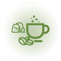 Organic coffee and a selection of<br /> Tea for FREE 24h